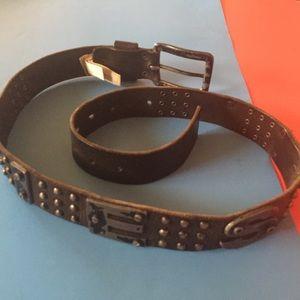 DIESEL metal and leather